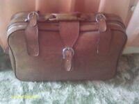 leather suit case