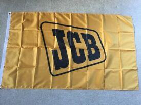 JCB excavators fastrac workshop flag banner
