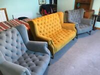 Beautiful Modern Queen Anne style sofa and chairs - MAY SELL SEPARATELY