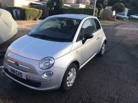 Fiat 500 Pop 1.2 2009 Silver, 47800 miles. Great condition. Personalised number plate. Tax and MOT