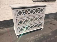 Shabby Chic & Mirrored Ornate Chest Of Drawers