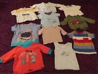 0-3 month boys baby t shirt bundle