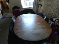 G PLAN large oak & 6 chairs dineing table, used for sale  Blaydon-on-Tyne, Tyne and Wear