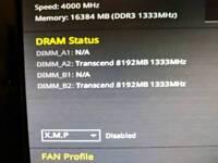 2x 8 gb (16 gb) DDR 3 1333 RAM