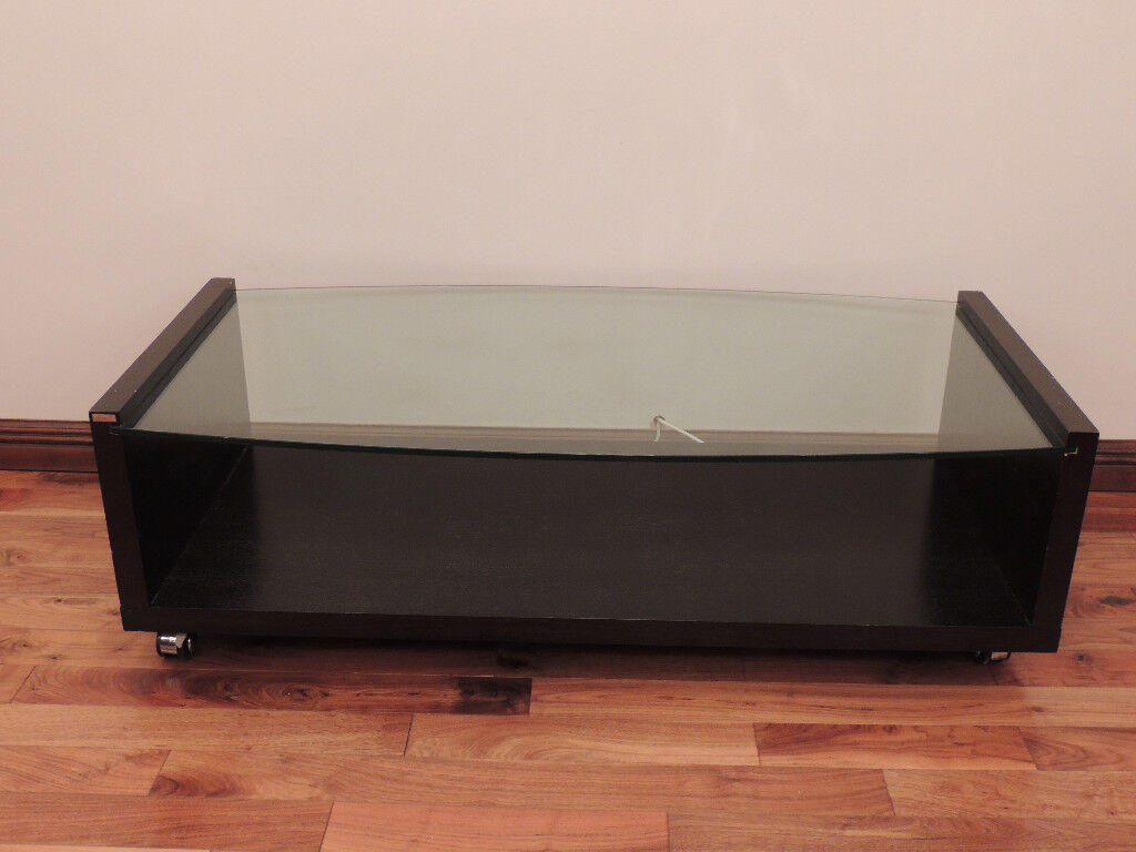 Black Glass Coffee Table Tv Unit Made By Dwell Delivery In Eltham London Gumtree