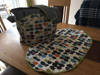 JJ Cole Baby Changing Bag / Nappy Bag & Changing Mat