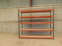 INDUSTRIAL SHELVING 2.45m high x 2.65m wide x 0.80m deep AS NEW