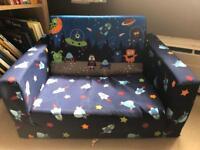 Fold out foam childs mini sofa