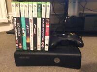 Xbox 360 4gb, 1 Controller, 9 games