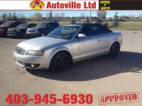 2005 AUDI A4 1.8T CONVERTIBLE AUTO LEATHER EVERYONE APPROVED