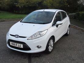 FORD FIESTA ZETEC 1.4, 2011, LOW MILEAGE, CITY PACK inc REAR PARKING SENSORS, 5DR, MANUAL, PETROL