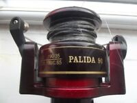 Used but in lovely clean condition. A red metallic Palida 90 Sea Fishing Reel.