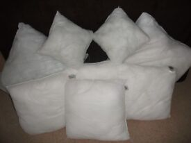 Cushion Pads (new) - 2 x 46cm; 4 x 38cm; 2 x 30cm