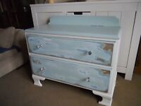 2 shabby chic drawers in duck egg