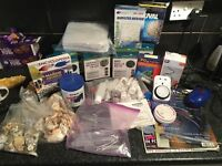 Marine fish tank selection of items