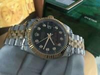 Rolex Datejust, Black dial two tone