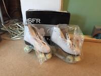Retro white quad roller skates *NEW* size 8