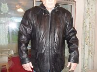 man's leather coat worn once