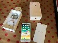 IMMACULATE CONDITION Apple iPhone 8 Plus 64GB Rose Gold - BOXED WITH ALL ACCESSORIES - EE BT VIRGIN