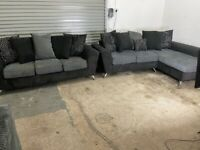 Grey dfs corner sofa & 3 seater sofas, couches(SOLD PENDING)