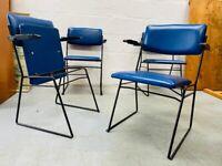 1960s Vintage Set of 4 Ernest Race Auditorium Chairs