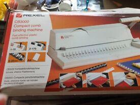 Rexel CB3000 Compact Comb Binding Machine
