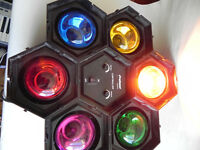 Pro Sound 6-Pack Coloured 40W Pod Disco Studio Party Lights