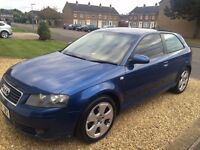 Audi A3 Sport Car - 12 months MOT, market value £1600, will sell for £1350 as going travelling!
