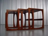 Teak G-Plan Quadrille Nest Of Tables Designed By R. Bennett