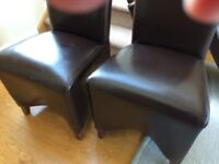 Leather Dining Room Chairs x 8 Free