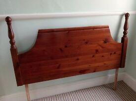 Double headbord Solid Pine