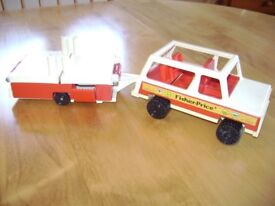 Fisher Price Jeep with Trailer Tent.