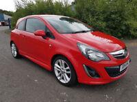 2014 (14) Vauxhall Corsa 1.4 SRi Red Low Mileage