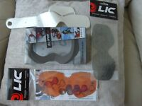 Liquid Image (LIC) goggle lenses x 2 and 1 x goggle foam plus tear off strips