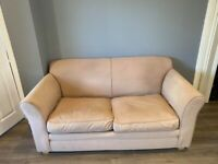 Cream 2 Seater Sofa Fold Out Double Sofabed