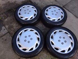 "BMW 1 Series 16"" Winter Run Flat Tyres on Steel Rims 195 55 16"