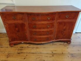 VINTAGE SOLID WOOD SIDEBOARD