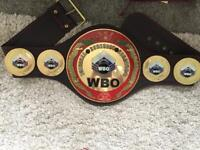 WBO Oriental champion boxing belt not gloves