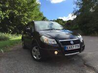 Fiat, Sedici, 1.6 ltr petrol 58,000 miles, 57 plate, 5 door hatchback in black, 4X4