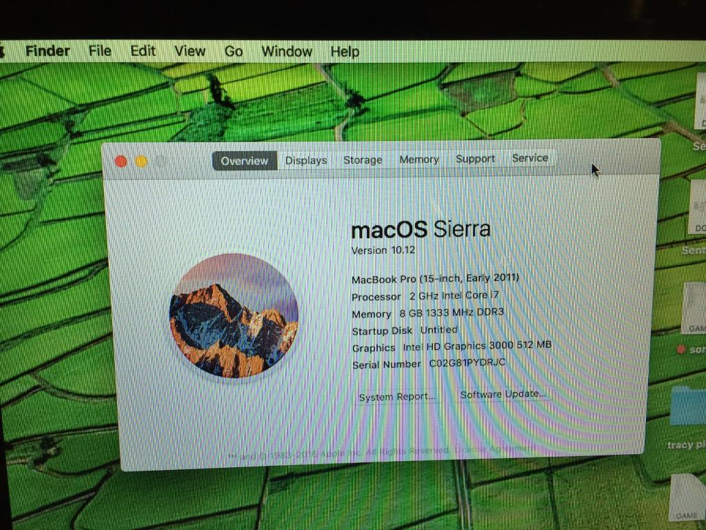 """MacBook Pro 15"""" 2011, core i7, ram 8gb, solid hard drive 120gbin Bromley, LondonGumtree - MacBook Pro 15"""" 2011, core i7, ram 8gb, solid hard drive 120gb.Latest macOS Sierra , ready for new user. Plus Microsoft office .Very powerful macbook.Comes with original box and charger.Thanks"""