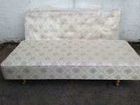 REYLON VINTAGE SINGLE BED DIVAN TYPE BASE WITH MATTRESS EXCELLENT CONDITION LOCAL DELIVERY POSSIBLE