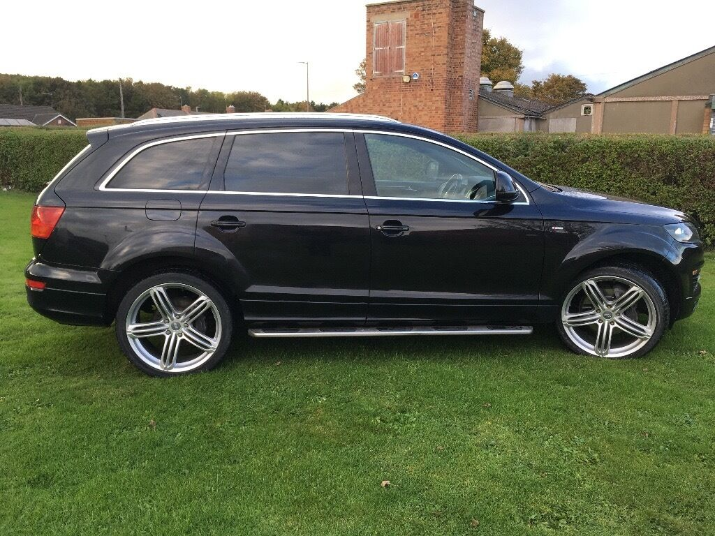 audi q7 3 0 v6 tdi s line tiptronic quattro 5dr 2008 black metallic in bedlington. Black Bedroom Furniture Sets. Home Design Ideas