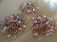 300 copper/orange glass decorative pebbles