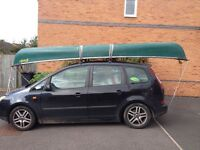 Pelican Canadian canoe. 17.5ft 3 person single skin and stable