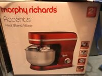 Murphy Richards Accents Stand Mixer - Red