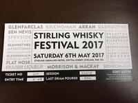 Stirling Whiskey Festival Tickets x3