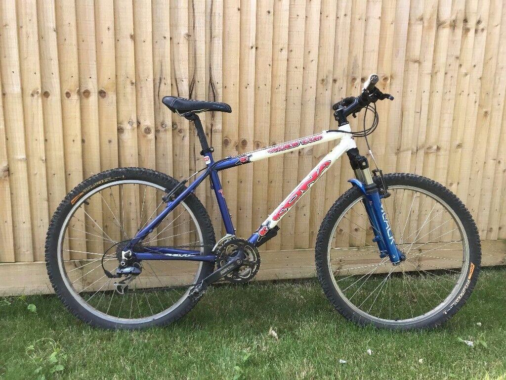 Kona cindercone mountain bike 2002 modelin Bognor Regis, West Sussex - Kona Cindercone 2002 mountain bike, upgraded front suspension. Fair condition for age
