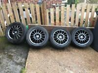 Alfa Romeo 147/156 Hyper Black Alloy Wheels
