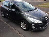 2009 Peugeot 308 1.6 HDi Sport Grey FSH MOTd Cruise Air-Con Alloys CD HPi Clear £2595 Cambelt done