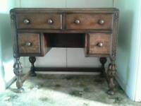 LADIES WRITING DESK LEATHER TOP BEAUTIFUL CONDITION